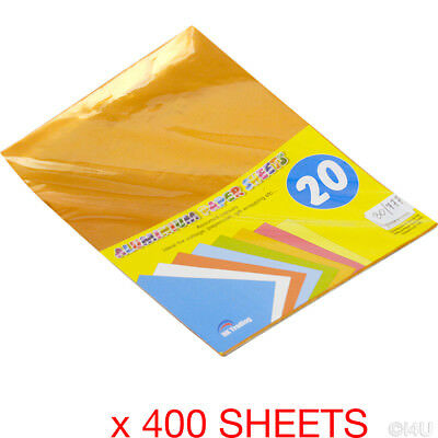 400 Sheets A4 Aluminium Paper Craft Gift Wrapping Collage Shiny Metallic Foil