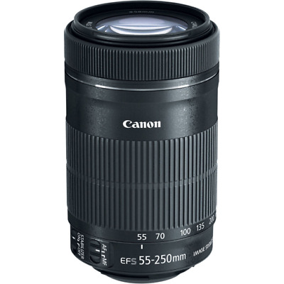A - Canon EF-S 55-250mm F/4-5.6 Es Stm Objetivo