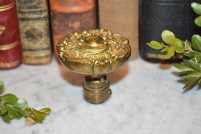 Antique Heavy French Style Ornate Brass Door Knob