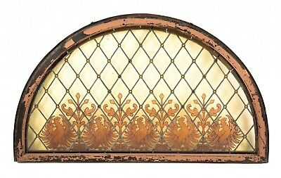 Stained Glass Window Bedecked With Amber Jewels And Enameled Polish Eagle