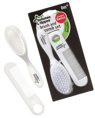 Tommee Tippee Essential Basics Newborn Baby Infant Care Hair Brush Comb Set 0m+