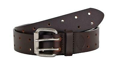 Dickies Men's Leather Two Hole Double Prong Bridle Belt