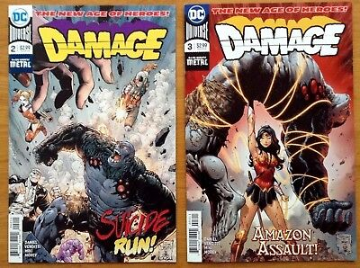 "Damage 2, 3   ""The New Age of Heroes"" 1st Prints Dark Nights Metal Tie In DC  NM"