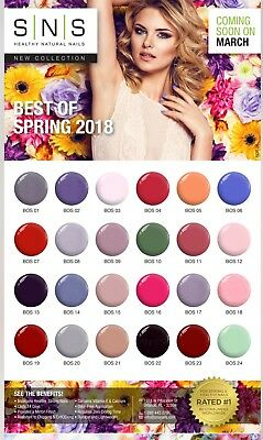 SNS Nail Color Dipping Powder NEW  Spring Collection BOS & NOS Free Shipping