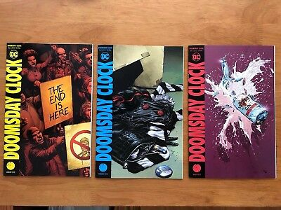 DOOMSDAY CLOCK 1, 2, 3 Cover A 1ST PRINT Geoff Johns Gary Frank DC Comics  NM+