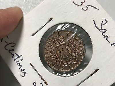 1935 San Marino 5 Centesimi world foreign coin Excellent BU condition nice tone