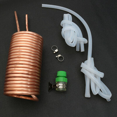 26' Copper Immersion Wort Chiller Cooler Elevated Coil Kit Home Brew Beer + Tube