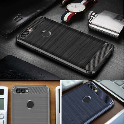 New Soft TPU GEL Cover For Huawei P Smart Painted Silicone Case Protective Cas