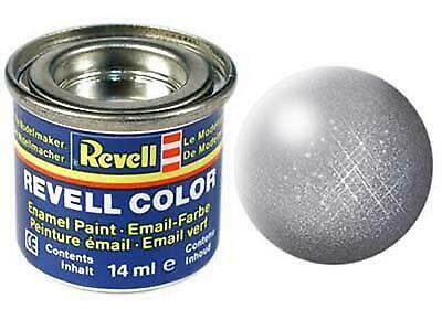 Revell Enamel Steel Metallic 91 14ml Tin 32191