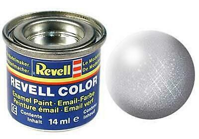 Revell Enamel Silver Metallic 90 14ml Tin 32190