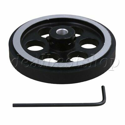 200mm Aluminum Rubber Meter Encoder Wheel for Rotary Encoder 6mm Bore