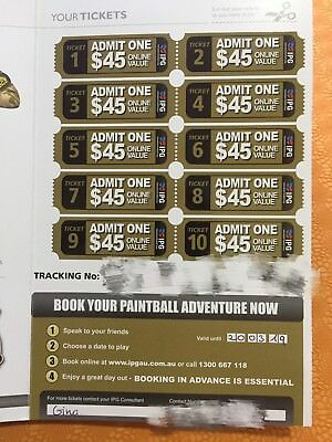 IPG Paintball Eight Times Annual Member Tickets