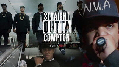"057 Straight Outta Compton - Ice Cube MC Ren HIPHOP Moive24""x14"" Poster"