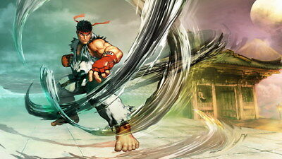 "074 Street Fighter - Fight Ryu Guile Ken ChunLi Game 42""x24"" Poster"