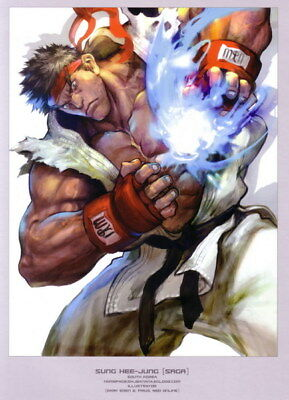 "077 Street Fighter - Fight Ryu Guile Ken ChunLi Game 24""x33"" Poster"