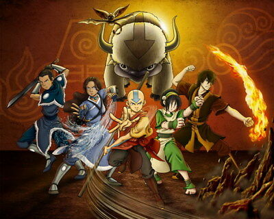 """089 Avatar The Last Airbender - Aang Fight Japan Anime 30""""x24"""" Poster"""