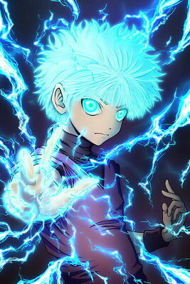 "091 Hunter X Hunter - Neferpitou Gon Killua Fight Anime 24""x36"" Poster"