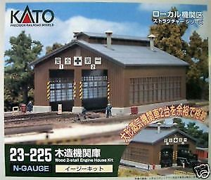 Kato 23-225 Wood 2-Stall Engine House Kit (N scale)