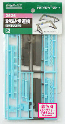 Greenmax No.2526 Pedestrian Bridge (Light Blue Painted) (1/150 N scale)