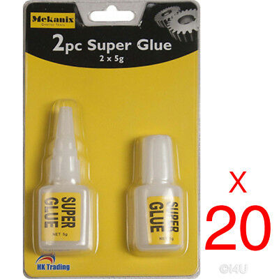 40 X 5g STRONG SUPER GLUE ADHESIVE SURFACE INSENSITIVE FAST INSTANT GLUE TOOL