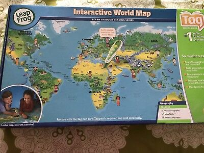Leapfrog tag interactive world map new 1000 picclick uk leapfrog tag interactive world map new gumiabroncs Gallery