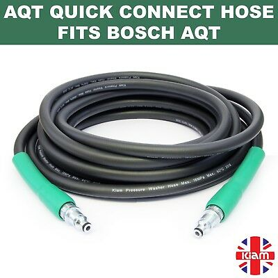 10m Bosch AQT Pressure Washer HOSE - AQT 37-13 with Quick connect SDS fittings