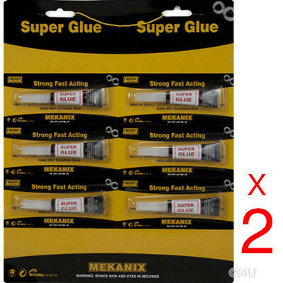12 X Strong Super Glue Adhesive Surface Insensitive Fast Instant Gel Tool