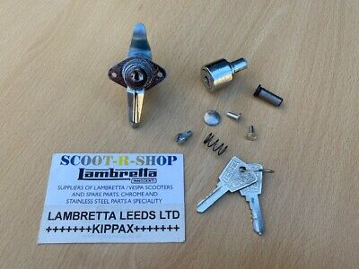 Lambretta Series 3 Li Sx Tv Lis Chrome Tool Box & Steering Lock & Fixings - New