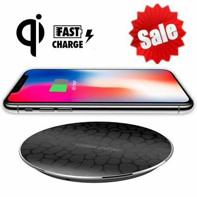 QI Wireless Charger Pad Fast Charging Mat Dock for iPhone X 8Plus Note8 S8 SA