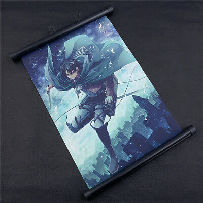 Attack on Titan Wall Hanging Poster Scroll Painting Animation Art Home Decor