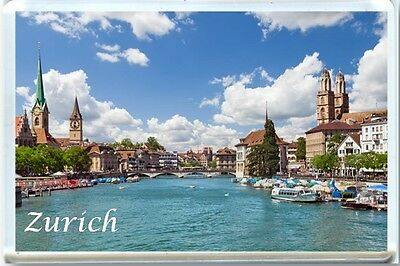 Zurich - Switzerland Fridge Magnet-2