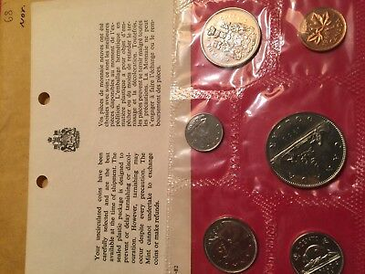1968 Canada 6 Coin Mint Set, Uncirculated in envelope with COA