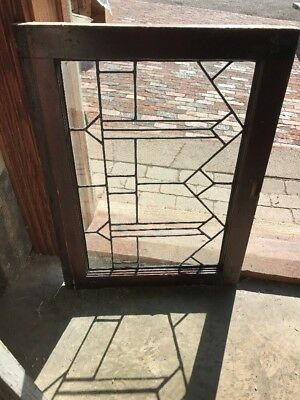 SG 2203 antique leaded glass window 21.25 x 28.5