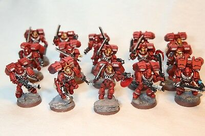 WH 40k, Warhammer 40.000, 10 Marines mit Jump Pack,Blood Angels, sehr gut bemalt