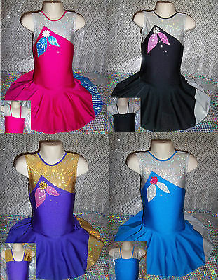 Dance Costume Leotard Cheer Twirling Tap Jazz Ice Skating Dress Razzledazzle UK