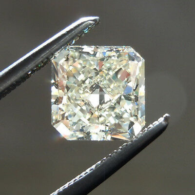 9.5 X 8.5 MM 3.40 Carat Yellow Radiant Shape Cut Loose Moissanite Best For Ring
