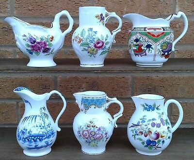 Royal Worcester Historic Jug Collection - Selection Of Miniature China Jugs