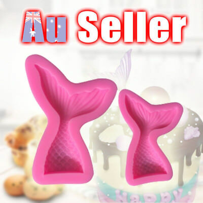 3D Mermaid Tail Mold Scale Silicone Fondant Mould Cake Decor Sugar Chocolate S L