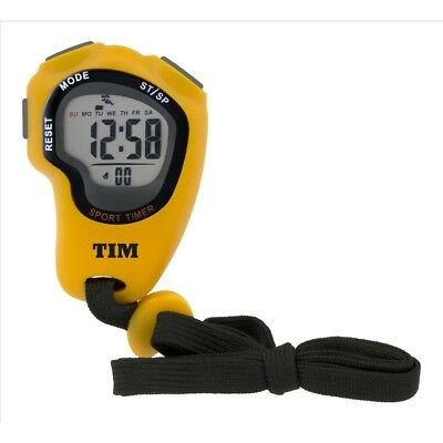Acctim Olympus LCD Stopwatch in Yellow complete with Lanyard TIM902
