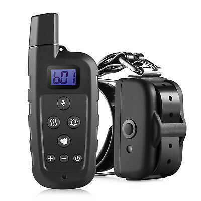 650 Yd Rechargeable Dog Remote Training Shock Collar No Bark Trainer Waterproof