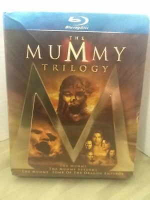The Mummy Trilogy 3 Film Collection (Blu-ray, 3 Discs, Region Free) New & Sealed