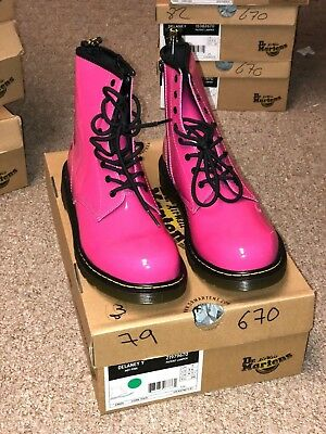 Dr. Martens in Hot Pink Boots for Women Brand New with Original Box