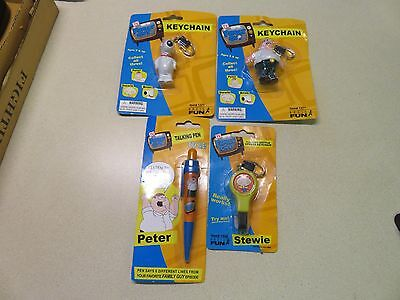 4 Collectible Family Guy Items 2 Keychain Bottle Opener & Pen Sealed on Packs