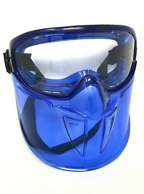 Jackson V90 Safety Goggles w/ Face Shield 18629 Clear Anti Fog Lens Blue