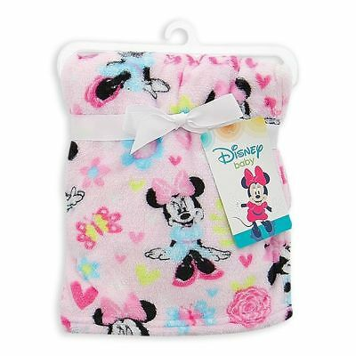 Baby Girl Minnie Mouse Baby Blanket Pink Girl Baby Blanket Super Soft Fleece