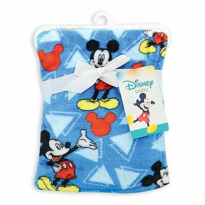 Baby Boy Mickey Mouse Baby Blanket Blue Boy Baby Blanket Super Soft Fleece