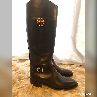 da7b74ad040 TORY BURCH ADELINE Cognac Leather Riding Boots Women s Size 8.5 ...