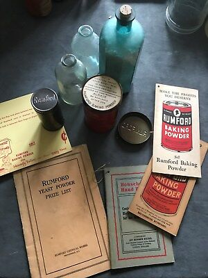 Rumford the Wholesome Baking Powder; Pamphlets, Tins, Bottles
