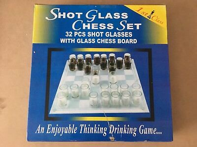 shot glass chess board withh all peices great quallity