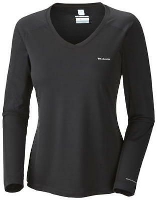 Columbia Women's Zero Rules Long Sleeve Shirt, Black, XS